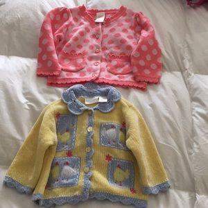 2 Infant sweaters like new!